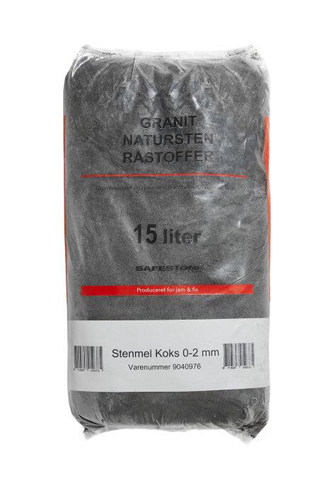 Safestone granitstenmel 25 kg - Sortkoks Hyperit
