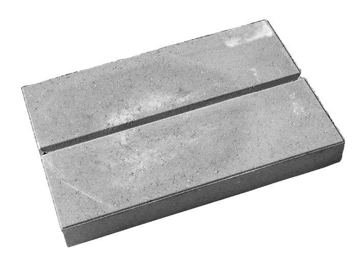 Lock-Block topplade grå 40 x 60 x 7 cm
