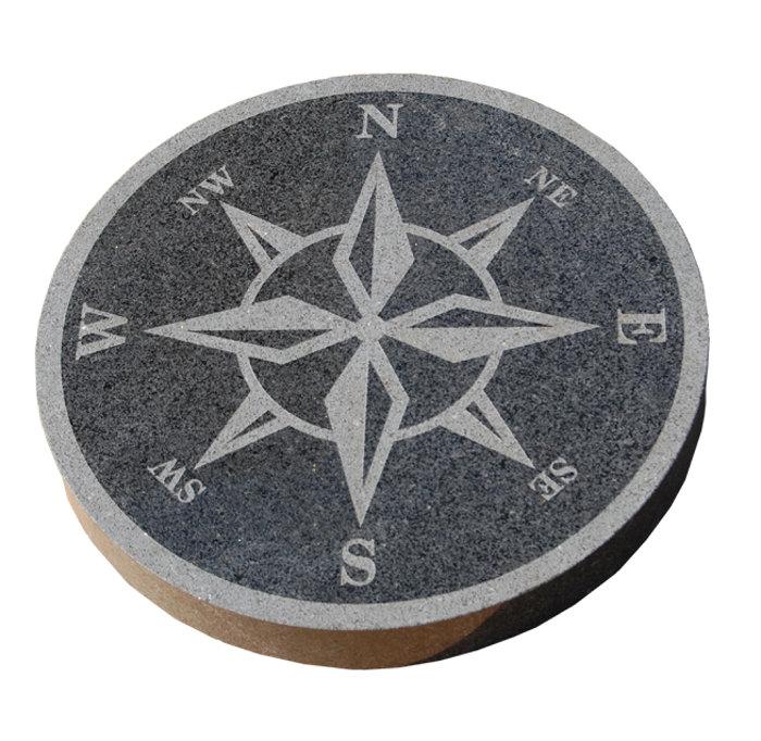 Granit kompas sort blank Ø40 cm