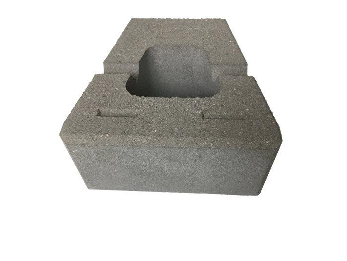 Nordic Block glat grå 30 x 30 x 15 cm