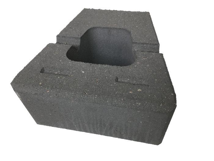 Nordic Block glat koks 30 x 30 x 15 cm