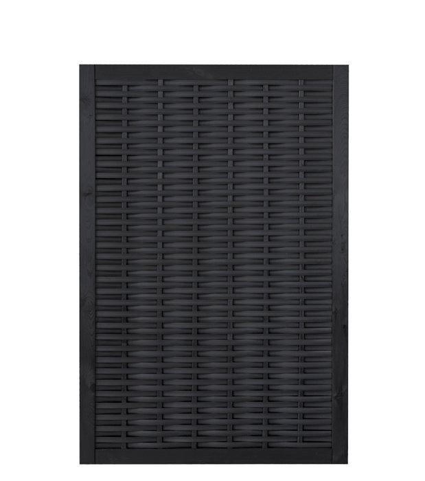 Kæmpestor Vedligeholdelsesfrit hegn i sort polyflet | Køb i jem & fix PT38