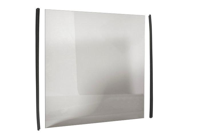 Røgfarvet glas til havehegn - hærdet og 6 mm