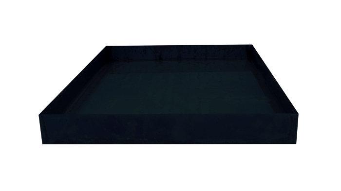 Spejlbassin sort 78 x 78 cm