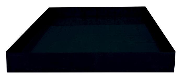 Spejlbassin sort 78 x 118 cm