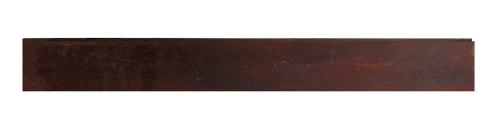 Bedkant formbar 100 cm – råjern