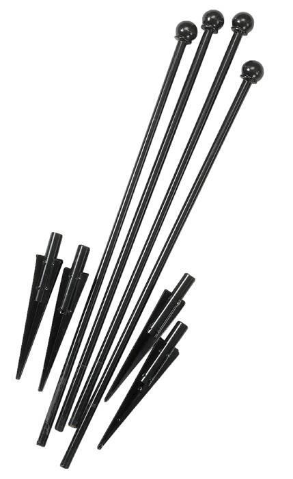 Sortlakeret stolpe inkl. spyd
