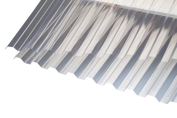 Trapezplade glasklar 111,9 x 310 cm