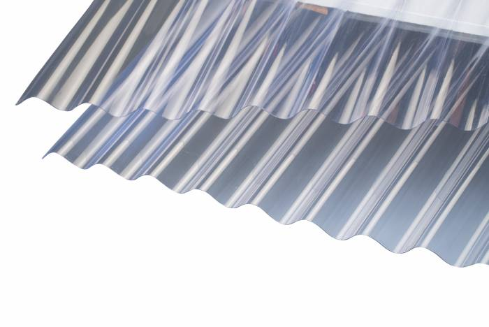 Tagplade glasklar 90 x 200 cm - SUNLUX® Sinus