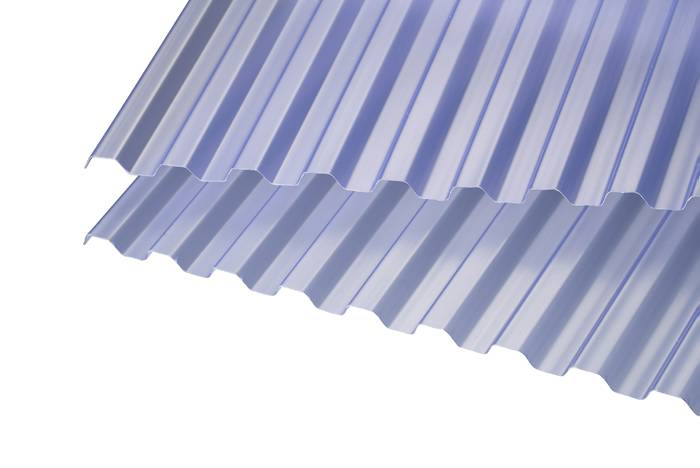 Trapezplade blåtonet 109 x 364 cm