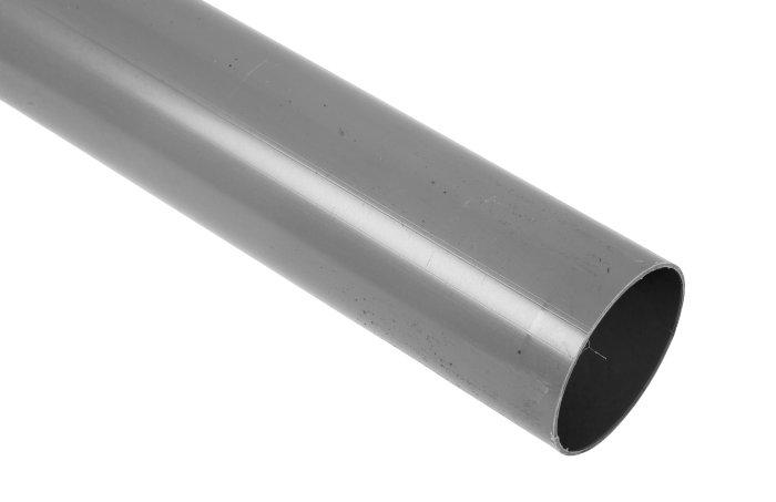Nedløb grå plast, 2 m