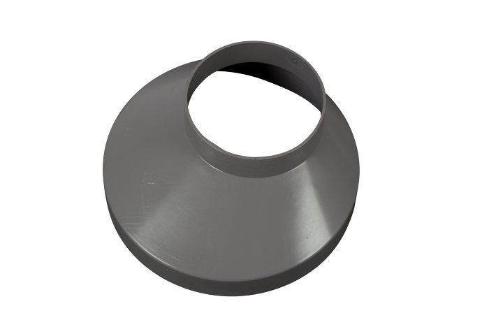 Brøndkrans grå plast, Ø150 mm