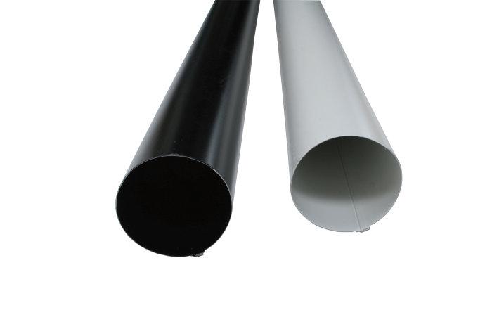 Nedløpsrør 90 mm 4000 mm svart