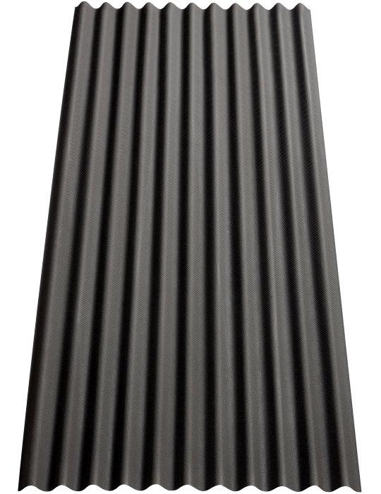 Tagplade bitumen sort 0,83 x 2 meter