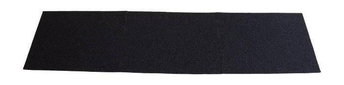 Tagfod shingel sort 100 x 25 cm