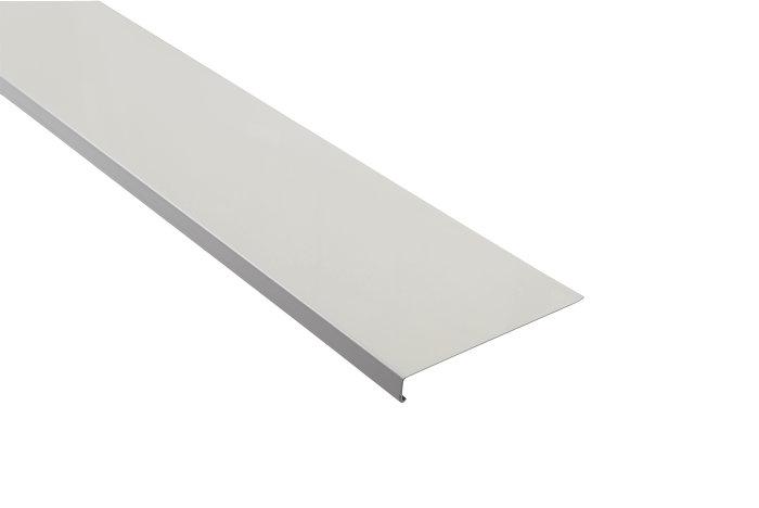 Sålbænk aluminium hvid - 15 x 125 mm x 2,5 m