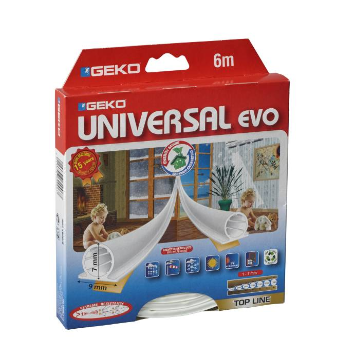Tætningsliste universal EVO hvid - 6 m