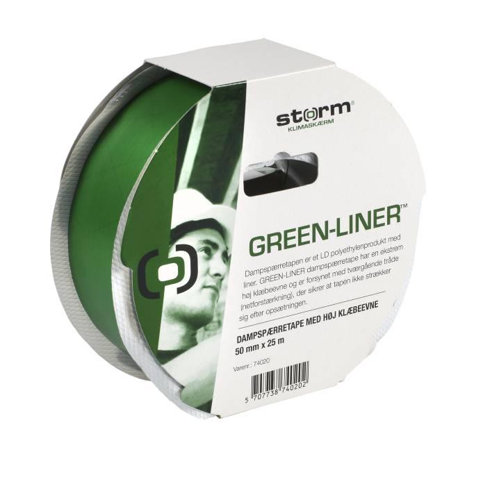Dampspærretape green-liner 50 mm x 25 m