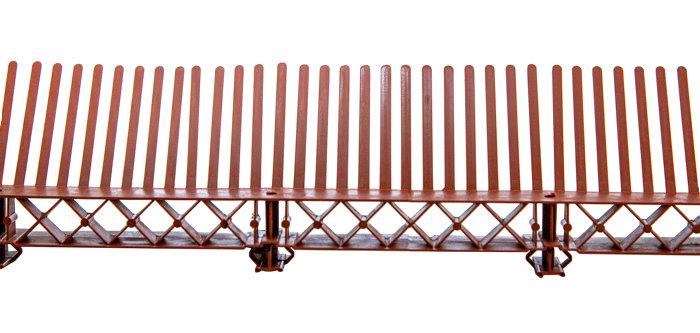 Fuglegitter med ventilation 1 meter rødt