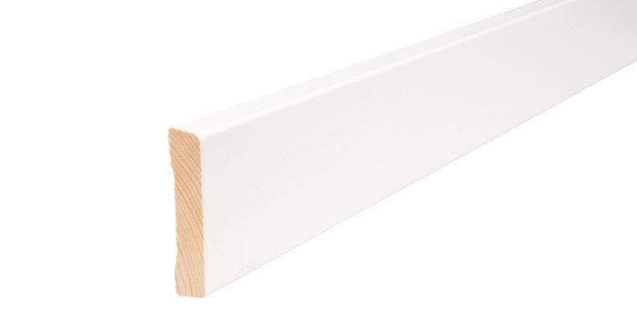 Indfatning glat hvid - 14 x 65 mm x 2,2 meter