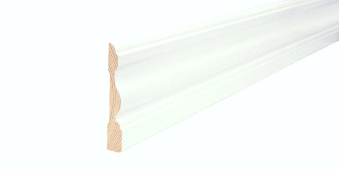 Indfatning almue hvid - 15 x 91 mm x 2,4 meter