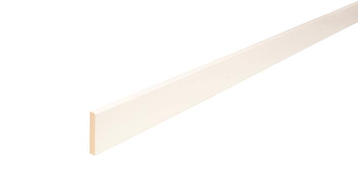 Forkantliste hvid 1 rund kant - 5 x 21 mm x 3 meter