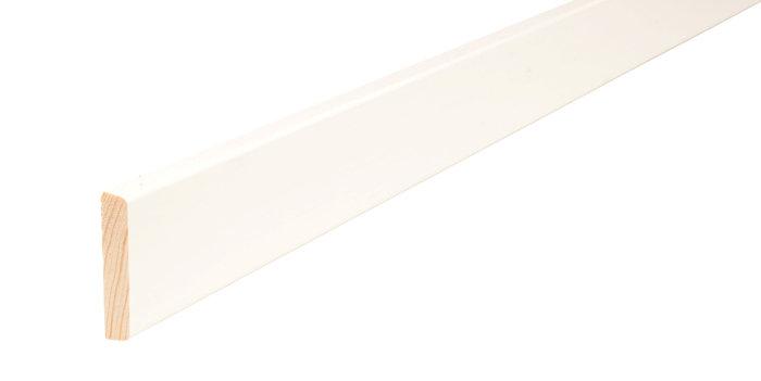 Forkantliste hvid 2 runde kanter - 9 x 55 mm x 3 meter