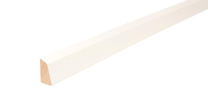 Skureliste hvid - 15 x 27 mm x 3 meter