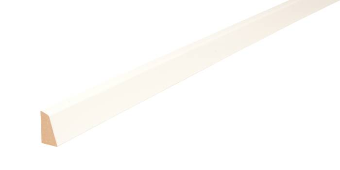 Skureliste MDF hvid - 12 x 21 mm x 3 meter