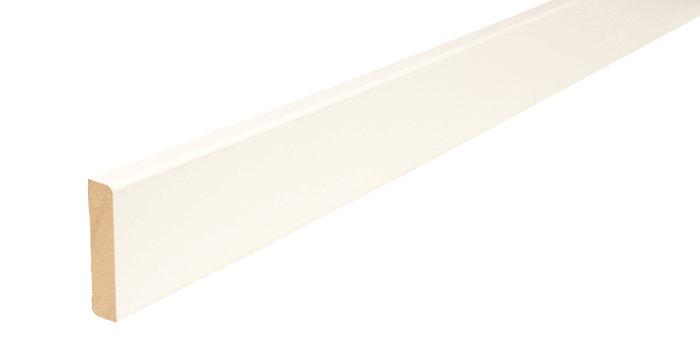Forkantliste hvid 1 rund kant - 9 x 43 mm x 3 meter