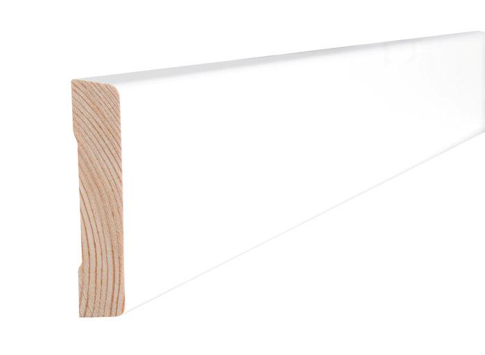 Indfatning glat hvid - 14 x 55 mm x 2,2 meter
