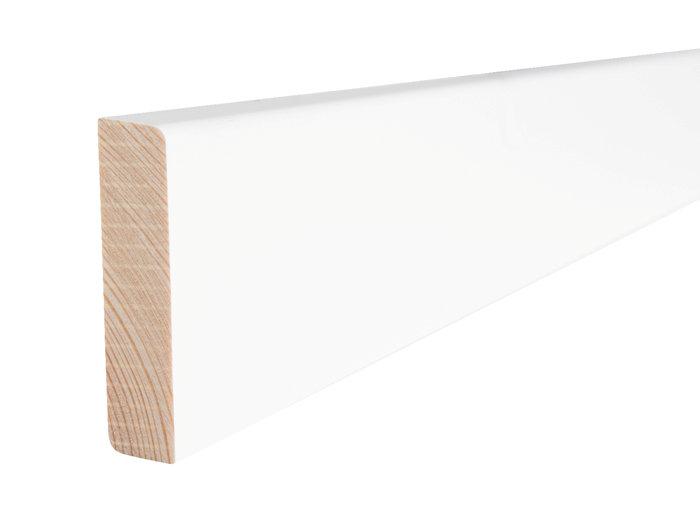 Fodliste glat fyr hvid - 14 x 55 mm x 3,6 meter