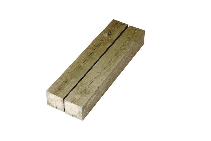 Imp. stolper 75 x 75 mm x 2,4 m.