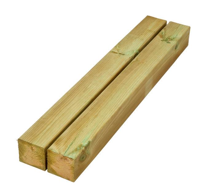 Imp. høvlet stolpe 90 x 90 mm x 2,7 meter