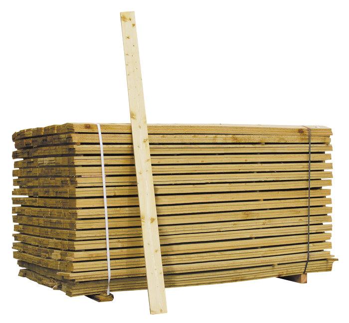 Staketbräda 16 x 100 mm - 210 cm