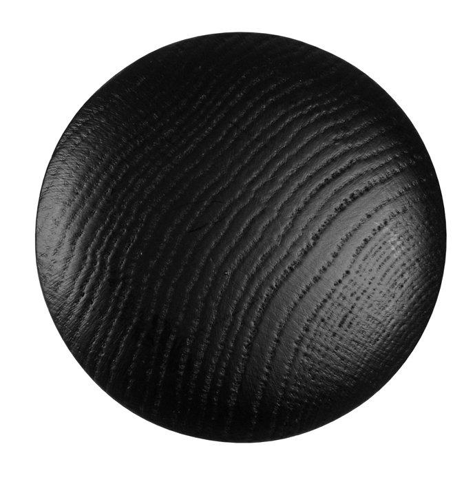 Træknop Ø75 mm sort