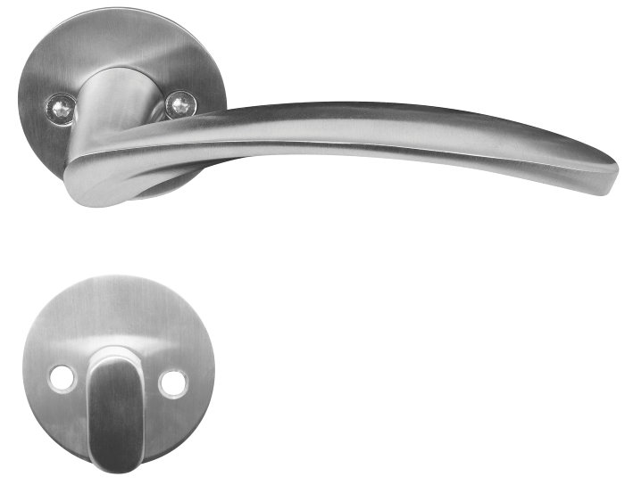Dørgreb til yderdør børstet rustfrit stål