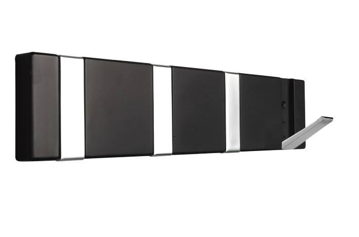 Knagerække flex sort 4 knager 31,6 cm