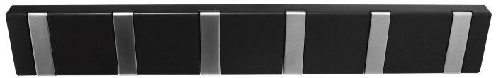 Knaggrekke Flex svart med 6 knagger