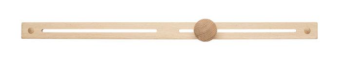 Knagerække eg medium 58,5 cm