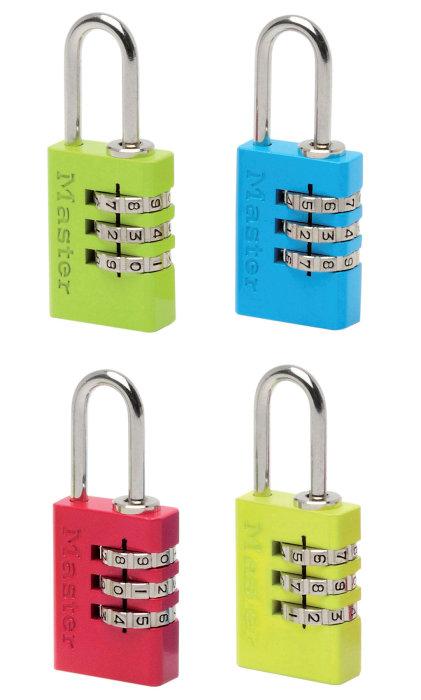 Master Lock Hengelås m/kode aluminium 20mm