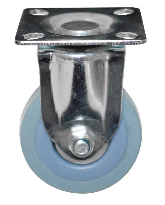 Møbelhjul fast med plade grå 50 mm