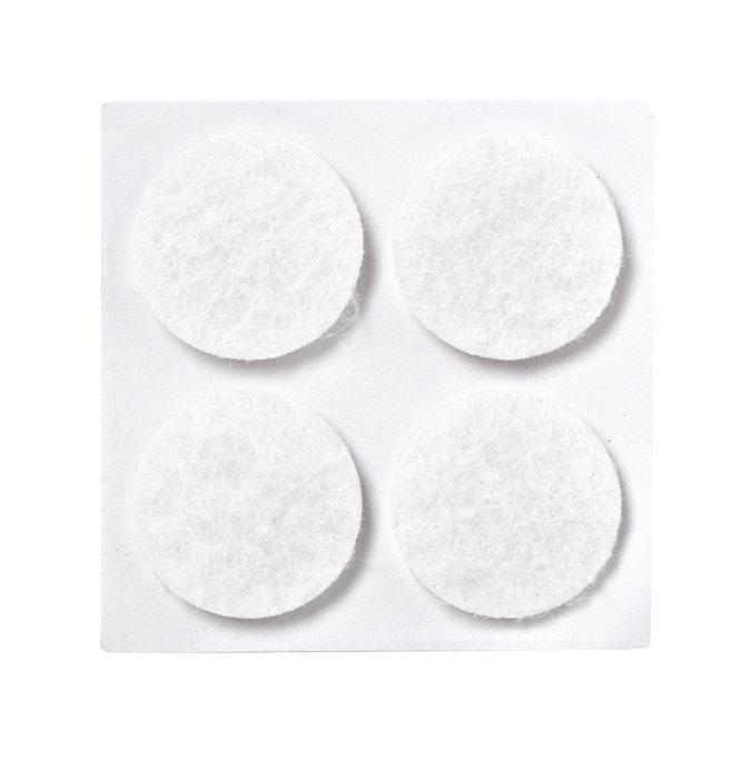 Selvklæbende filtpuder Ø 17 mm, 20 stk.