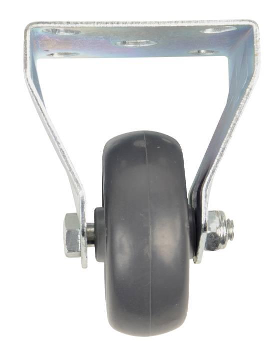 Møbelhjul fast med plade sort 50 mm