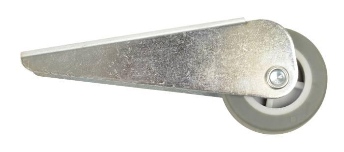 Møbelhjul fast med plade sort 40 mm