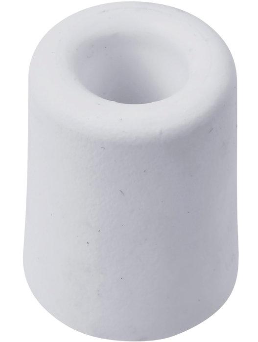 Dørstopper Ø40 x H75 mm hvid plast