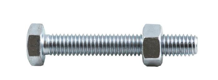 Stålsætskruer inkl. møtrik M6 x 40 mm 6 stk.