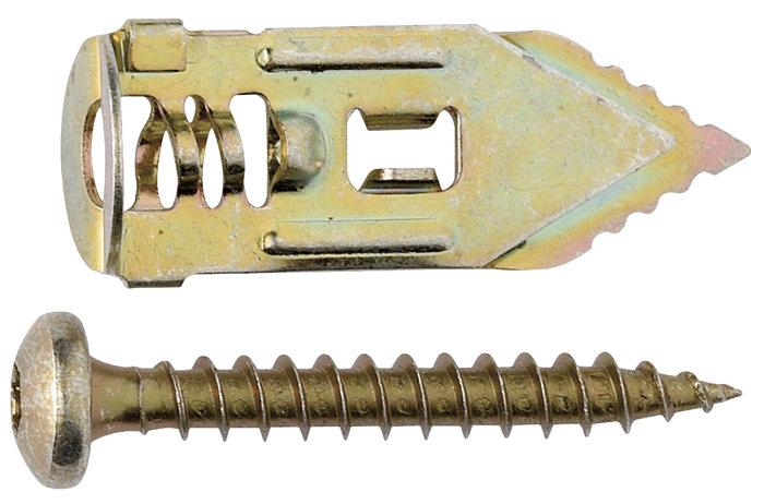 Gipsdybel m. skrue 13 x 35 mm, 4 stk.