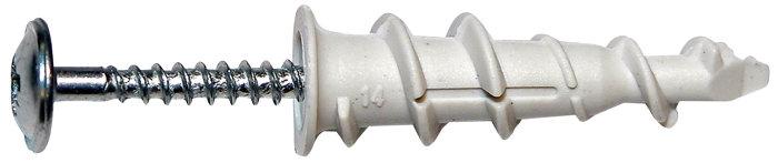 Gipsdybel 3,0 x 30/12 mm nylon - Spit
