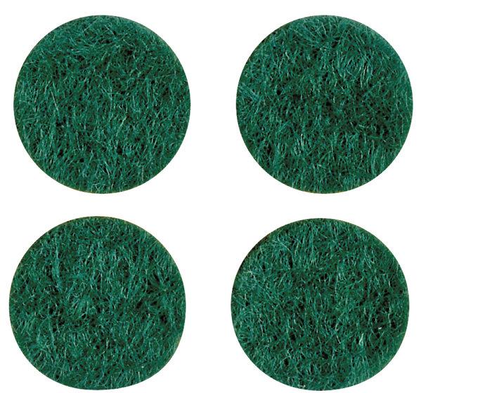 Filtpuder i grøn Ø16 mm, 20 stk.